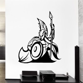 Wall Decal War Warrior Battle Power Spear Greek Spartan Vinyl Decal