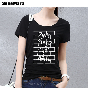 MUXUEDESIGNPink Floyd The Wall Casual Fitness Women's T-Shirts Cotton O Neck Summer Style Fashion Hip hop tshirt lady tops